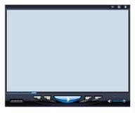 Interfaz del reproductor multimedia Foto de archivo