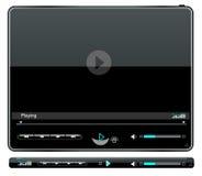 Interfaz del reproductor multimedia Fotografía de archivo