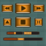 Interfaz del reproductor multimedia Imagenes de archivo