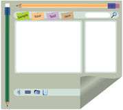 Interfaz del Web site Imágenes de archivo libres de regalías