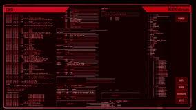 Interfaz digital futurista stock de ilustración