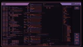 Interfaz digital futurista ilustración del vector