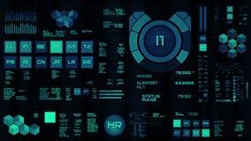 Interfaz futurista azul que brilla intensamente/Digitaces screen/HUD