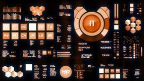 Interfaz futurista caliente/Digitaces screen/HUD ilustración del vector