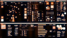 Interfaz futurista caliente/Digitaces screen/HUD