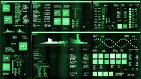Interfaz futurista de color verde oscuro/Digitaces screen/HUD