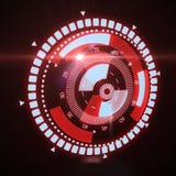 Interfaz futurista de HUD Target UX UI Foto de archivo