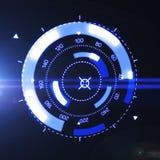 Interfaz futurista de HUD Target UX UI stock de ilustración