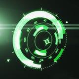Interfaz futurista de HUD Target UX UI Imagen de archivo libre de regalías