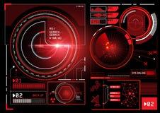 Interfaz futurista de la información Fotografía de archivo libre de regalías