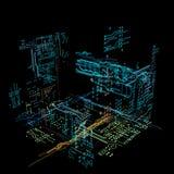 interfaz futurista del holograma 3d Foto de archivo libre de regalías