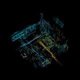 interfaz futurista del holograma 3d Foto de archivo