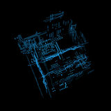 interfaz futurista del holograma 3d Fotos de archivo