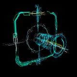 interfaz futurista del holograma de la tecnología 3d Fotografía de archivo
