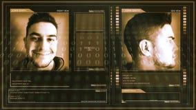Interfaz futurista del perfil de la ciencia ficción de Digitaces - perno de la esquina almacen de metraje de vídeo
