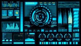Interfaz futurista   HUD   Pantalla de Digitaces stock de ilustración