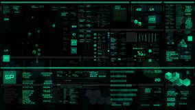 Interfaz futurista verde que brilla intensamente/Digitaces screen/HUD
