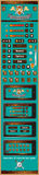 Interfaz gráfica de usuario para los juegos 4 Imagen de archivo libre de regalías