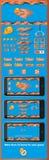 Interfaz gráfica de usuario para los juegos 5 Fotografía de archivo