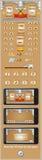 Interfaz gráfica de usuario para los juegos 6 Imágenes de archivo libres de regalías