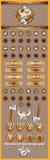 Interfaz gráfica de usuario para los juegos 7 Foto de archivo