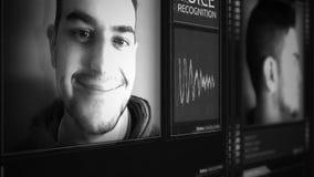 Interfaz liso futurista del reconocimiento vocal de Digitaces almacen de metraje de vídeo