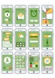 Interfaz móvil abstracto plano de los artilugios Imagenes de archivo