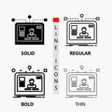 interfaz, página web, usuario, disposición, icono del diseño en línea y estilo finos, regulares, intrépidos del Glyph Ilustraci?n ilustración del vector