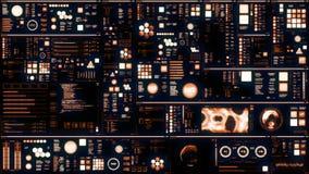 Interfaz/pantalla futuristas calientes de Digitaces
