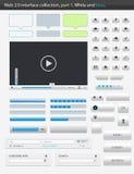 Interfaz part1 del Web 2.0. Foto de archivo libre de regalías