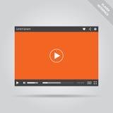 Interfaz plano moderno del vídeo Imágenes de archivo libres de regalías