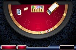 Interfaz utilizador en línea del casino Imagenes de archivo
