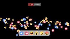 Interfaz vivo de la pantalla de Facebook