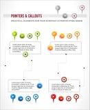 Interfejsów elementy ustawiający, mapy lokaci pointeru szpilka,  Obrazy Royalty Free