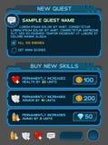 Interfejsów guziki ustawiają dla astronautycznych gier lub apps Zdjęcia Royalty Free