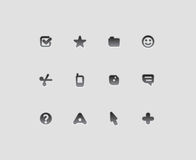 Interfejs ikony Obrazy Royalty Free