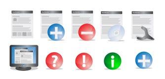 Interfejs ikony set Obrazy Stock