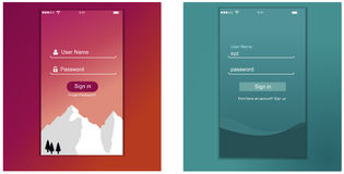 Interfejs Użytkownika, podaniowy szablonu projekt dla telefonu komórkowego royalty ilustracja