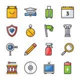 Interfejs u?ytkownika ikony ustawia? royalty ilustracja