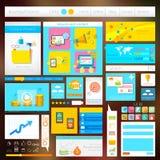Interfejsu Użytkownika projekt Obrazy Stock
