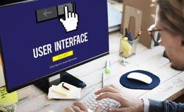 Interfejsu UI kursoru ikony Komputerowy pojęcie Fotografia Royalty Free