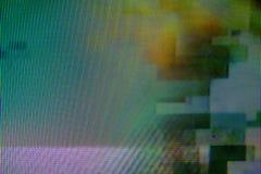 Interferencia de la difusión de TV de Digitaces Foto de archivo libre de regalías