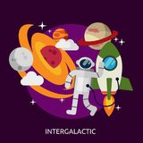 Intergalactic Conceptual Design stock illustration