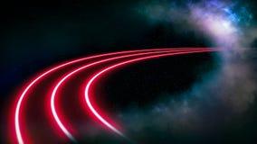 Intergalactic highway. stock illustration