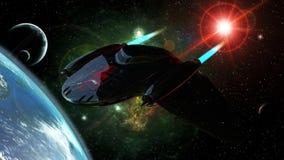 Intergalactische vechter stock illustratie