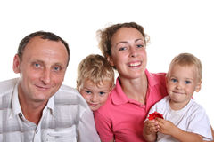 intergenerational familj 2 arkivbilder