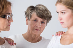 Intergenerational family conflict Stock Image