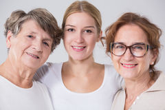 Intergenerational friendship between women Royalty Free Stock Photos