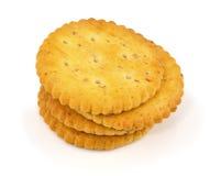 Interi cracker del grano isolati Fotografie Stock Libere da Diritti