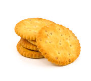 Interi cracker del grano isolati Fotografia Stock Libera da Diritti